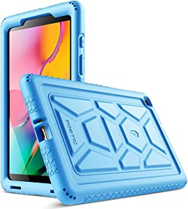 Galaxy Tab A 8.0 Case, Model SM-T290/SM-T295 2019 Release, Poetic Heavy Duty Shockproof Kids Friendly Silicone Case Cover, TurtleSkin Series, for Samsung Galaxy Tab A 8.0 Without S Pen (2019), Blue