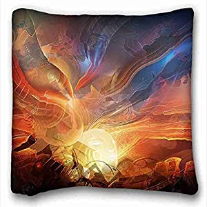 Generic Personalized Nature Custom Cotton & Polyester Soft Rectangle Pillow Case Cover 16x16 inches (One Side) suitable for Queen-bed