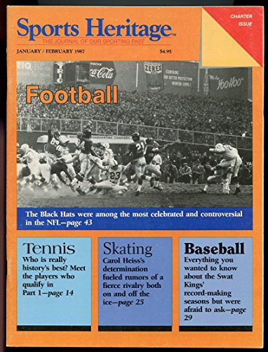 Sports Heritage Magazine Jan Feb 1987 Charter Issue Football Black Hats Good