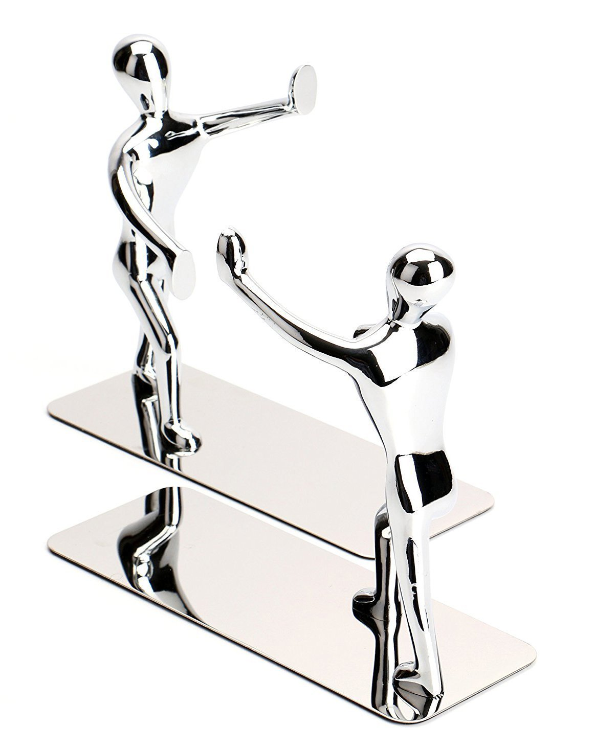 Fasmov Heavy Duty Stainless Steel Man bookends Nonskid Bookends Art Bookend,1 Pair by Fasmov (Image #3)