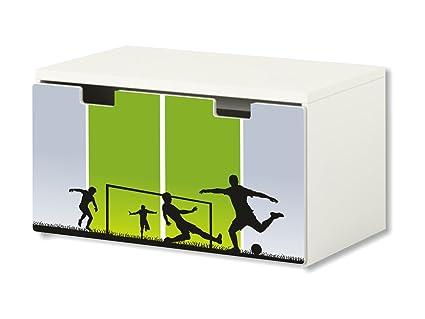 Fútbol pegatina | pegatinas para muebles | BT47 | adecuado para el arcón de banco STUVA de IKEA para niños ...
