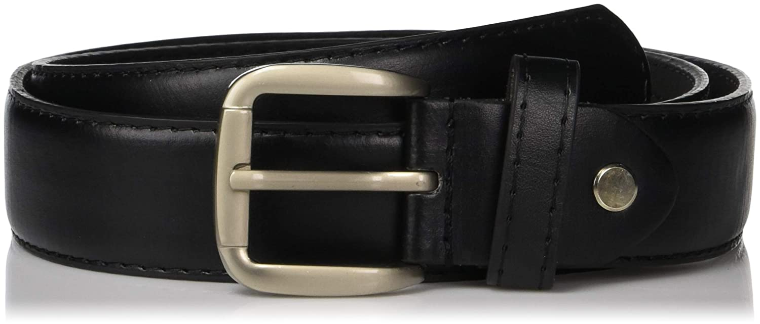 1240d88a44f Men s Black Leather Money Belt Sizes 32 Through 64 at Amazon Men s Clothing  store