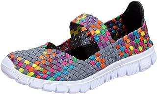 Chaussures Bateau Couleur Femme Trainers Été Automne Chaussures Toile Comfort Tennis à Enfiler Overdose Sneakers Pas Cher OverDose-10027