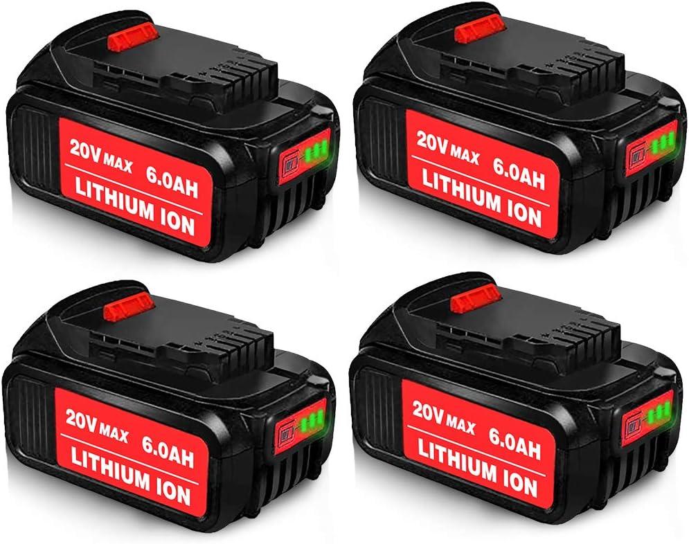 DCB205 For DEWALT DCB206 DCB200 DCB205 DCB204-2 XR 4.0Ah Lithium Ion Battery NEW