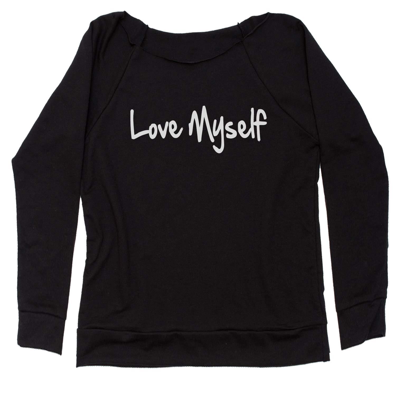 Expression Tees Love Myself Off Shoulder Sweatshirt
