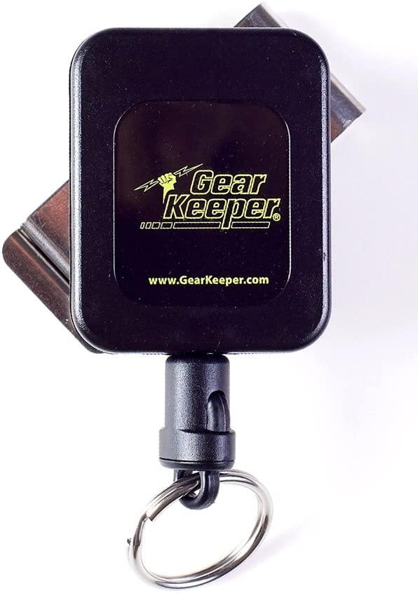 """Hammerhead Industries Gear Keeper Medium Force // 6oz 36/"""" Features Heavy-Duty Durable Stainless Rotating Belt Clip with Q//C Split Ring Accessory 8-14 Key Retractor RT4-5851 Made in USA"""