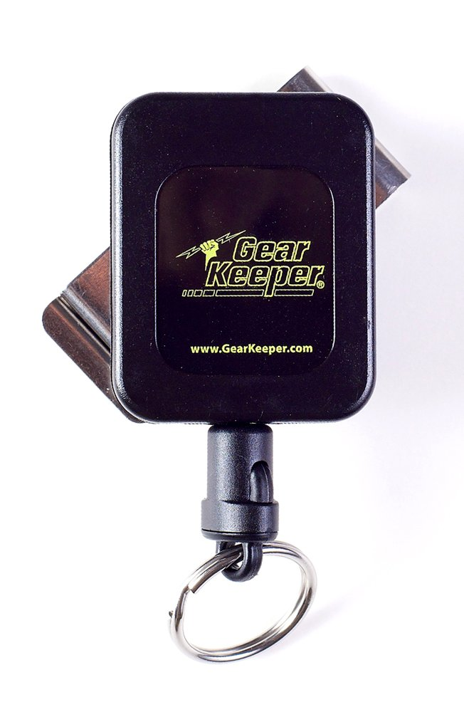 Gear Keeper RT4-5851 RT4 Medium Force 8-14 Key Retractor with Stainless Steel Rotating Belt Clip, 60 lbs Breaking Strength, 6 oz Force, 36'' Extension