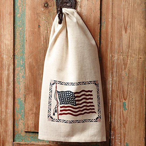 The Country House Collection 19'' x 28'' Ol' Glory Flax Hand Towel by The Country House Collection (Image #1)