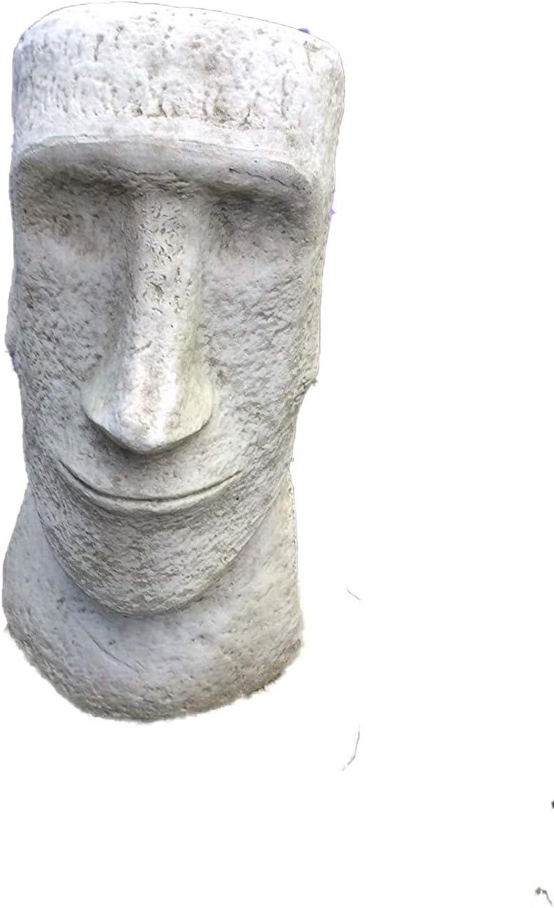 piedra Jardín Figura de Estatua de cabeza de la Isla de Pascua Moai Tiki: Amazon.es: Jardín