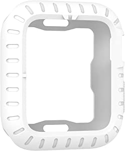 Konafei Compatible with Apple Watch Case 40mm 44mm Series 6 5 4 SE, Premium Soft Flexible TPU Thin Lightweight Protective Bumper Cover Guard Accessories for iwatch (White, 44MM)