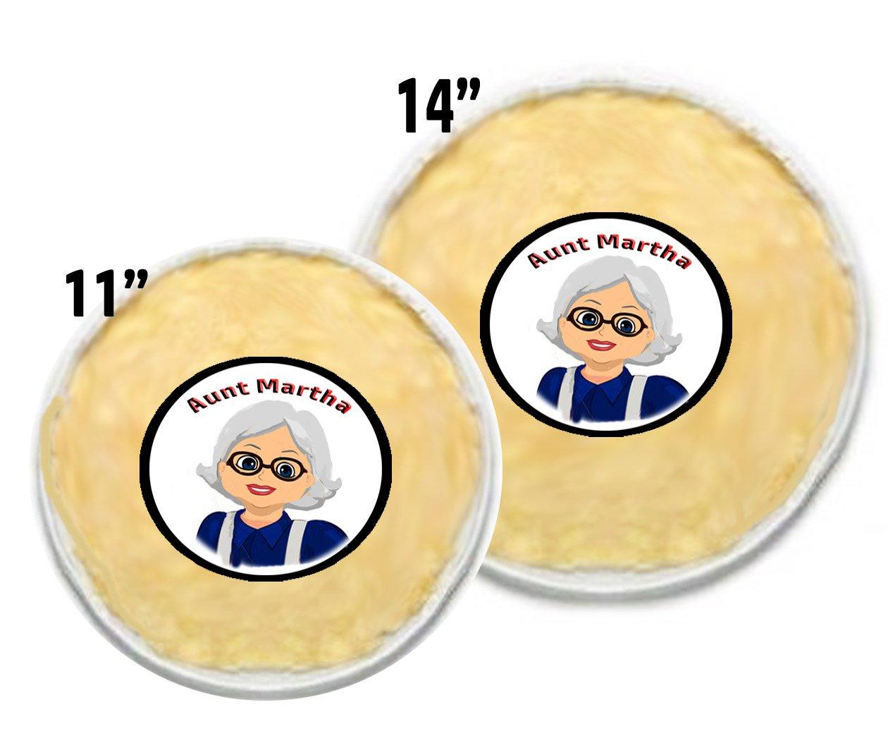 2 Aunt Martha's Pie Crust Maker Bags; One Bag 14'', One Bag 11''