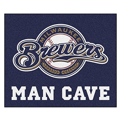 MLB Milwaukee Brewers Man Cave Tailgater Rectangular Mat Area Rug