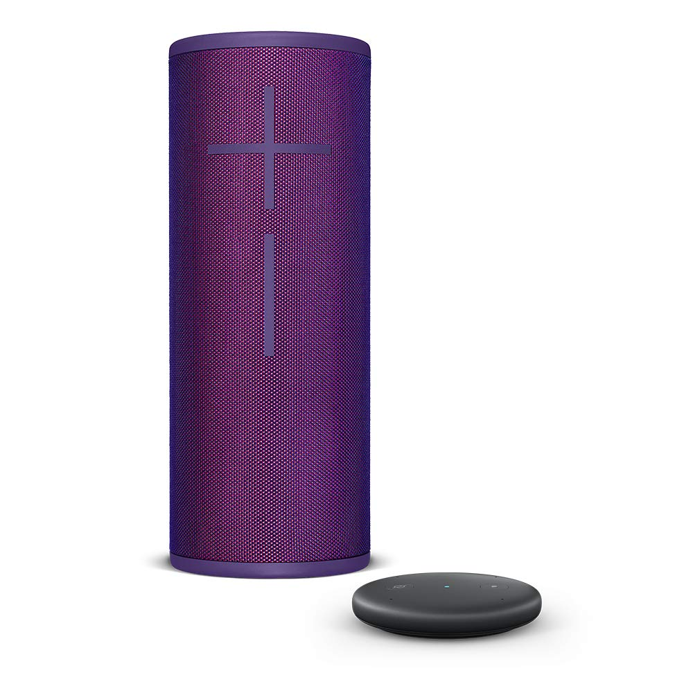 Amazon Echo Input, Black+ Ultimate Ears BOOM 3 Wireless Bluetooth Speaker, Ultraviolet Purple