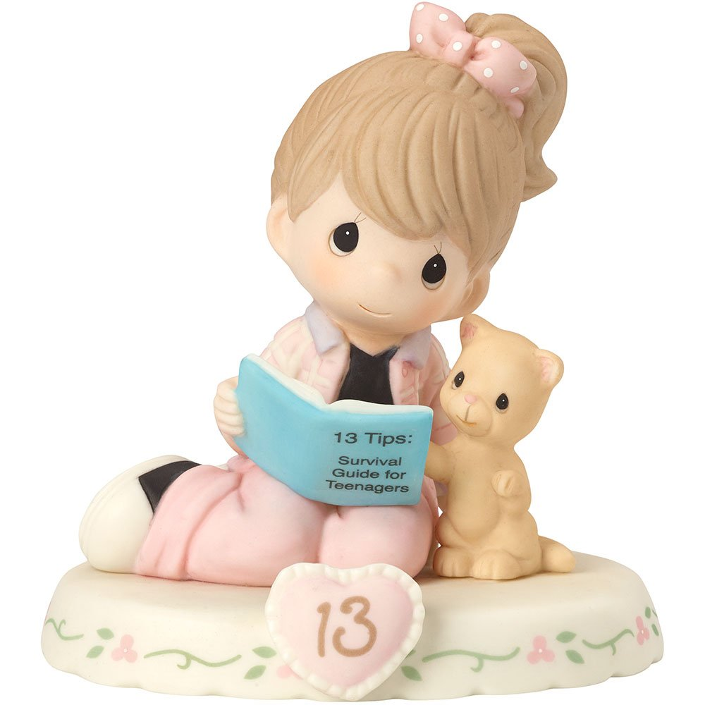 Precious Moments 162012B  Growing In Grace, Age 13, Bisque Porcelain Figurine, Brunette Girl by Precious Moments
