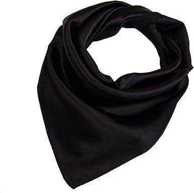 Women Soft Wrap Bandanas Shawl Stewardess Neckerchief Square Silk Satin Scarf