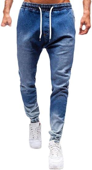 VITryst Mens Drawstring Pockets Relaxed Fit Athletic Cowboy Jogging Pants