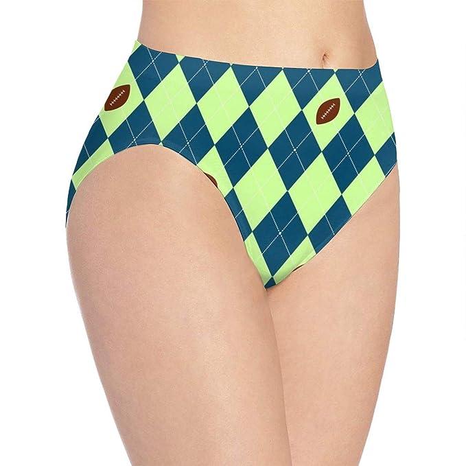c776e6beb2f4 SweetieP Women's Seahawks Seattle Football Argyle Bikini Briefs -Comfy Full  Coverage Underwear at Amazon Women's Clothing store:
