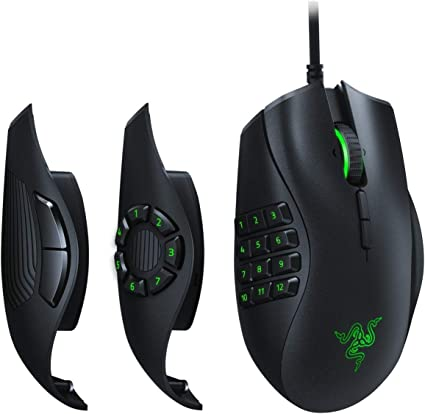 Razer Naga Trinity - Ratón para Juegos MOBA/MMO (3 Placas Laterales Intercambiables, Sensor Óptico de 5G de 16 000 PPP, hasta 19 Botones Programables), Negro: Razer: Amazon.es: Informática