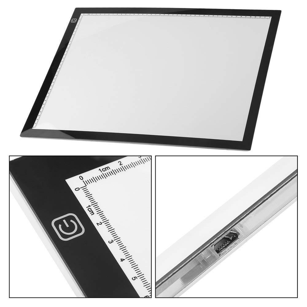 Leuchttisch A3 Leuchtkasten Unterst/ützte Einstellbare Helligkeit Tracing Handwerk Tattoo Leuchtk/ästen