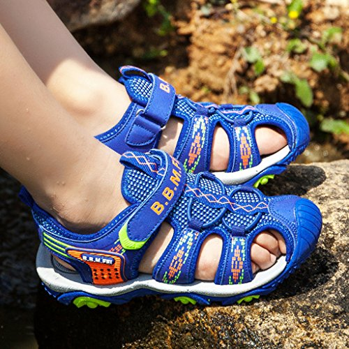 Husk'sware Peso ligero y transpirable Sandalias deportivas niño Unisex Chanclas de playa para niño Azul