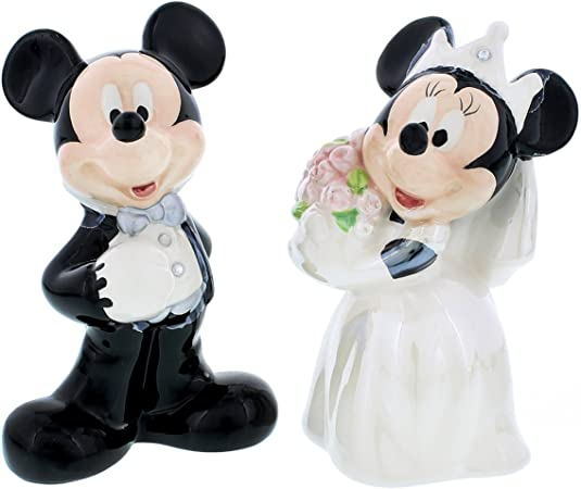 Mickey and Minnie Mouse Coffee Cup Salt and Pepper Shakers