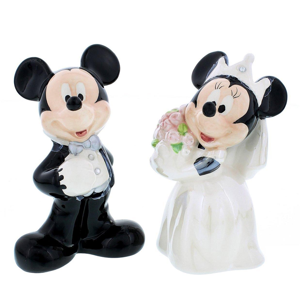 Disney Theme Parks Mickey Minnie Mouse Wedding Salt Pepper 2 Pc. Set Disney Theme Park Merchandise
