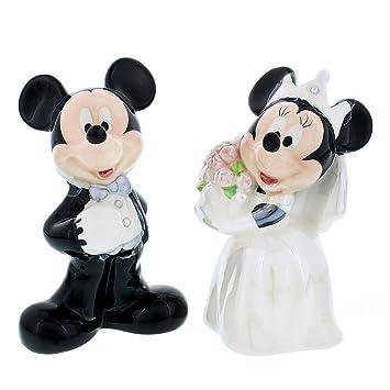 Amazon.com: Disney Theme Parks Mickey Minnie Mouse Wedding Salt ...