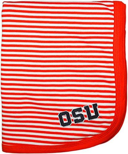 (Creative Knitwear Oregon State University OSU Striped Blanket Orange/White)