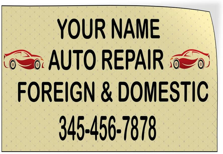 Custom Door Decals Vinyl Stickers Multiple Sizes Business Name Auto Repair Phone Numer A Automotive Car Outdoor Luggage /& Bumper Stickers for Cars Pink 66X44Inches 1 Sticker