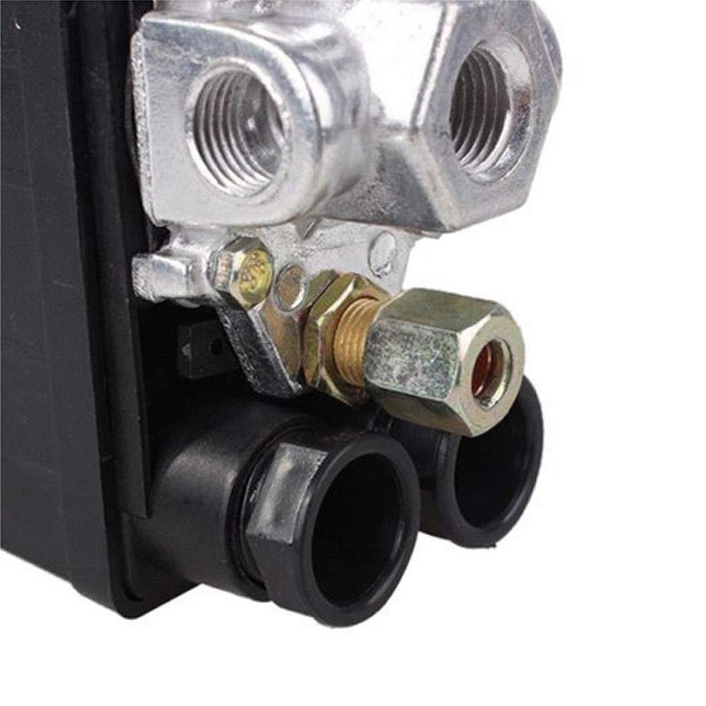 HOUTBY Solid 90-120PSI Air Compressor Pump Pressure Switch Control Valve Heavy Duty