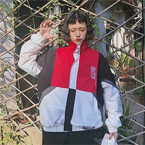Giacche College Chic Giacca Casual Stile Coat Leggero Outwear Sportivo Eleganti Autunno Ragazze Moda Ragazza Maniche Primaverile Misti Rot Lunghe Zip Relaxed Donna Colori S4qWOTdwAw