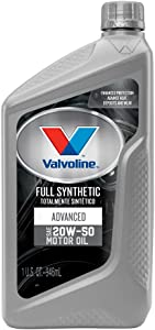 Valvoline Advanced Full Synthetic SAE 20W-50 Motor Oil 1 QT