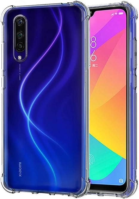 QHOHQ Funda para Xiaomi Mi 9 Lite, TPU Premium con Cuatro Esquinas de protección Funda de Silicona para Xiaomi Mi 9 Lite (Transparente): Amazon.es: Electrónica