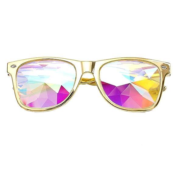 Gaddrt Kaléidoscope verres rave Festival Party EDM lunettes de soleil diffracté Lens (Rouge) 4WxeOK