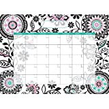 WallPops WPE0754 Floral Medley Monthly Calendar Dry Erase Wall Decals, 17.75-Inch X 13-Inch