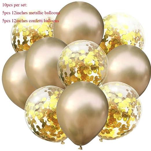 Globos de confeti de oro mixto para decoración de fiestas de ...