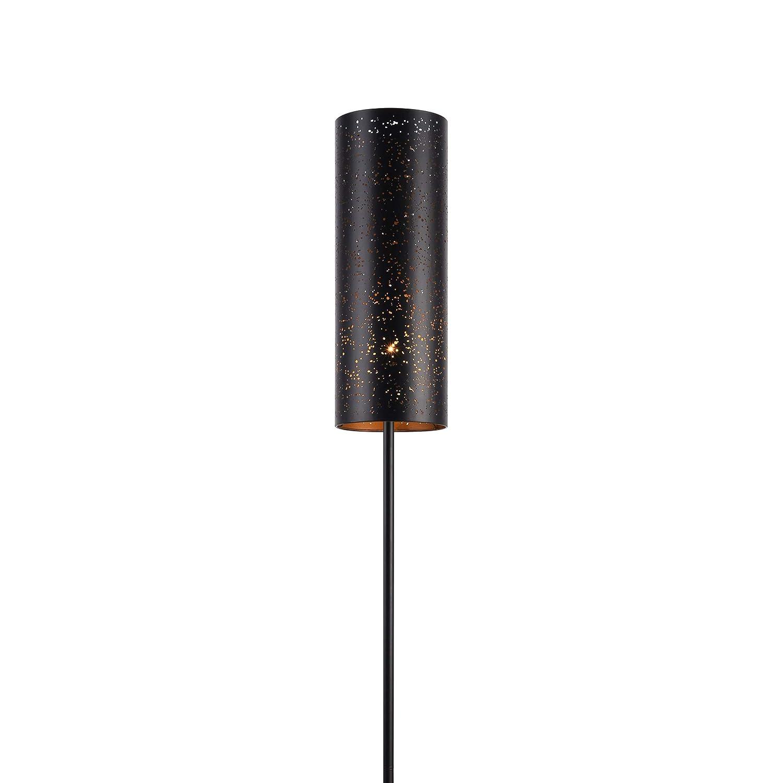 Lampada a stelo da terra moderna con paralume nero di metallo in un design favoloso lux.pro