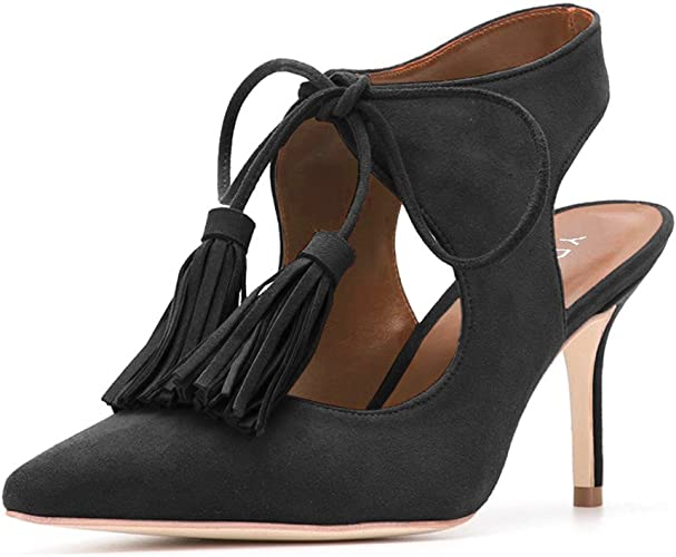 Womens Brown Ankle Lace Up Sandals Pointed Closed Toe Comfy Smart Shoes Size
