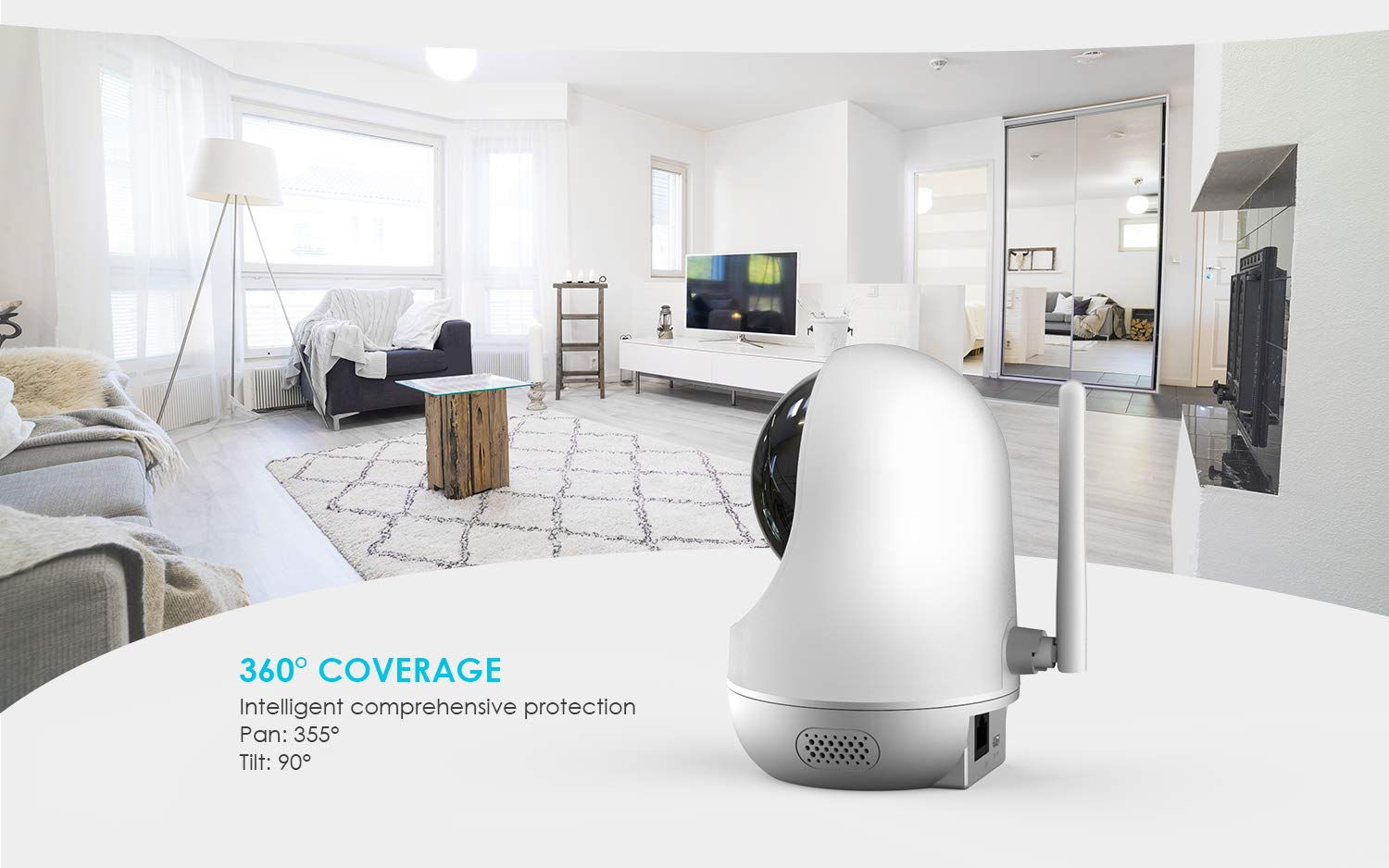 1080P Smart Indoor Home Security Surveillance CCTV Camera with Motion Tracking Remote Control for Baby//Elder//Pet Monitor Speed Playback ieGeek WiFi IP Security Camera Wireless Pet Camera