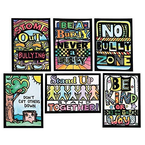 Anti-Bully & Kindness Velvet Art Mini Posters