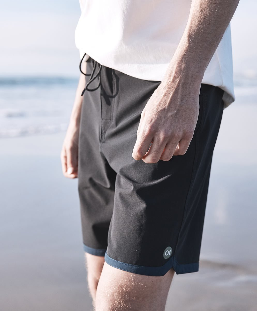 Outerknown Men's Modern Scallop Trunk, 32, Bright Black by Outerknown (Image #2)