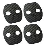 [EMY] Nissan 日産 用 カーボン調 ドアストライカーカバー ドアロックカバー サビ予防 保護 高級感 4個セット