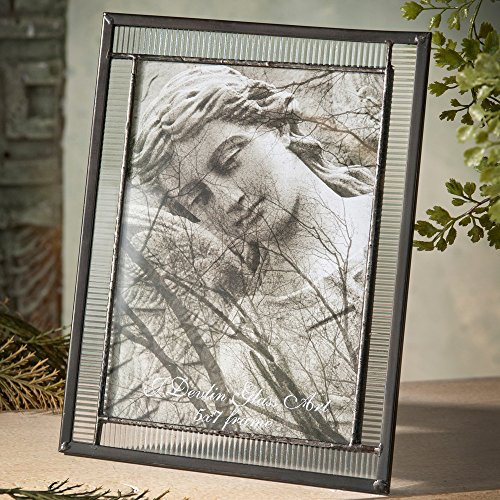 J Devlin Pic 322 Series Clear Stained Glass Photo Frames Available in 4x6, 5x7, 8x10 picture sizes (5x7 Horizontal/Vertical)