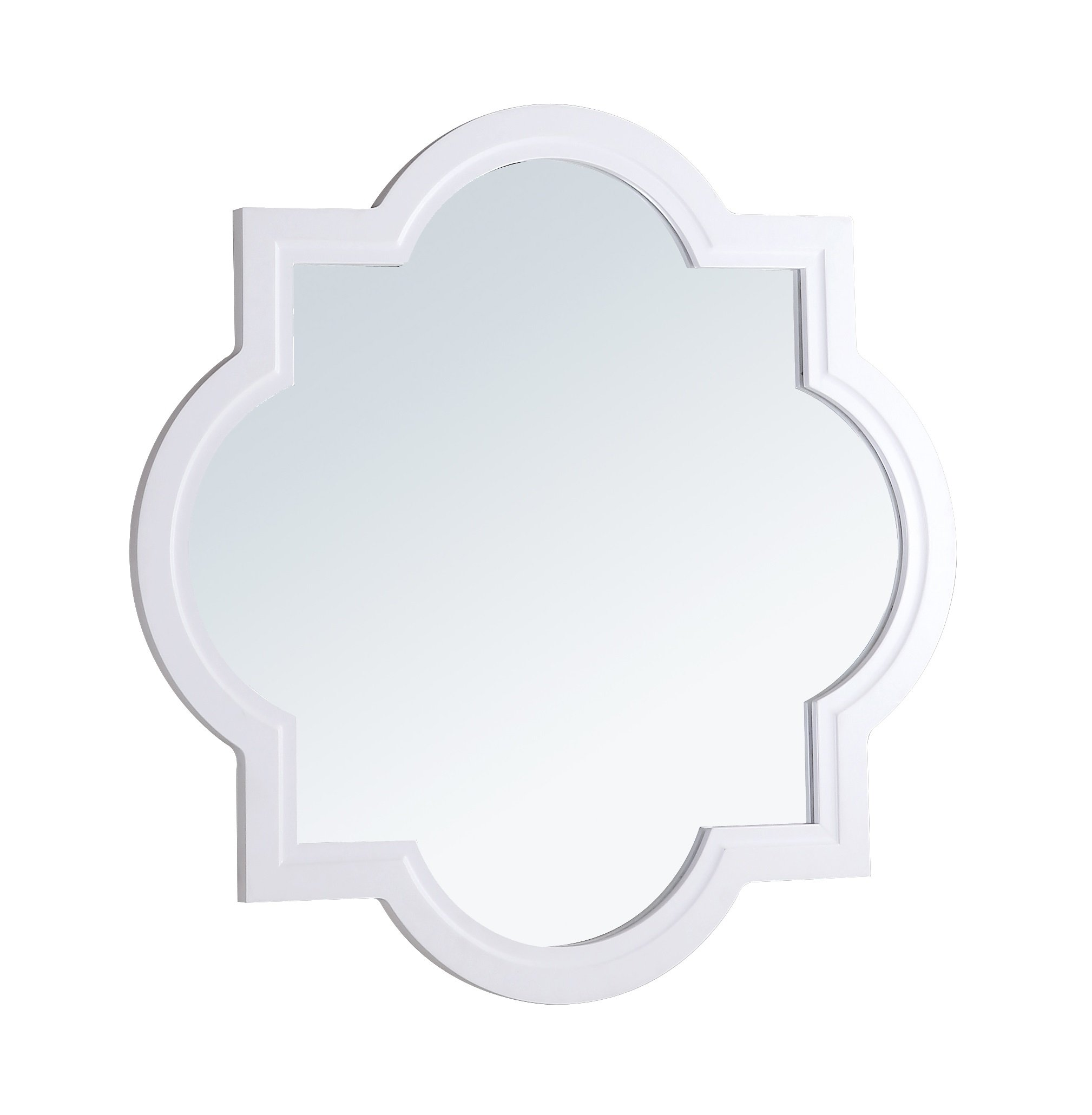 Crawford and Burke 1072.M Evelyn Mirror, White