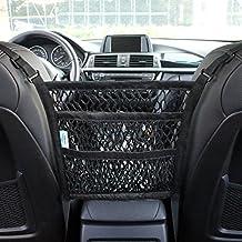AMEIQ 3-Layer Car Mesh Organizer, Seat Back Net Bag, Barrier of Backseat Pet Kids, Cargo Tissue Purse Holder, Driver Storage Netting Pouch. (3 optional styles)