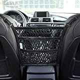 AMEIQ 3-Layer Car Mesh Organizer, Seat Back Net Bag, Barrier of Backseat Pet Kids, Cargo Tissue Purse Holder, Driver Storage Netting Pouch. (3 optional styles)