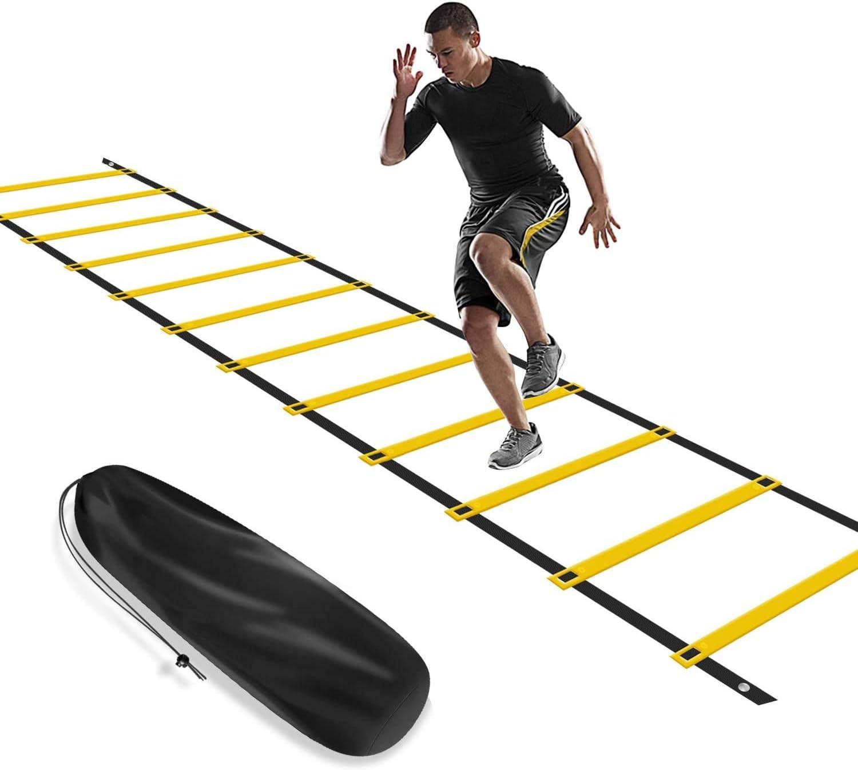 airtrack matte Escalera de Agilidad 6m, Escalera de Entrenamiento Ajustable con 12 peldaños y Bolsa de Transporte Gratuita: Amazon.es: Deportes y aire libre