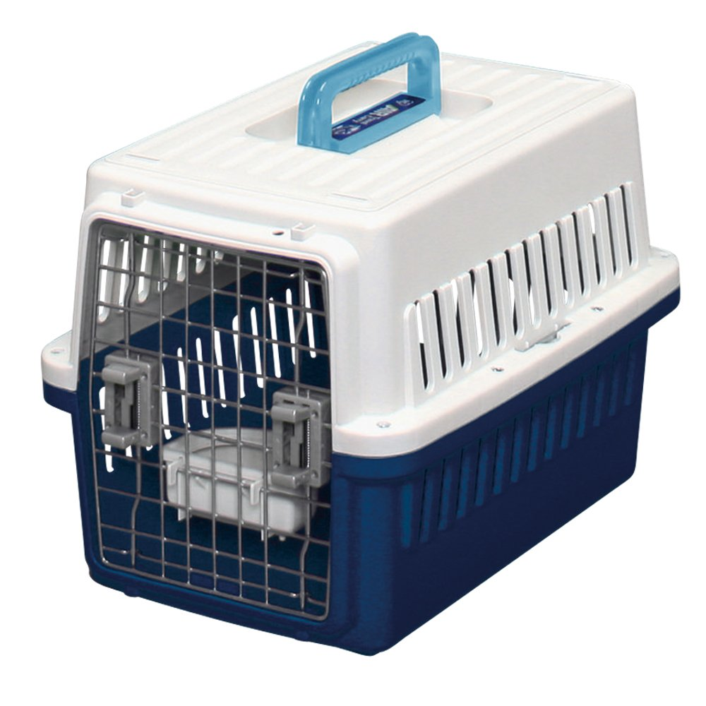 Light bluee Small Light bluee Small IRIS Dog Air Travel Carrier Crate, Navy, Small by IRIS OHYAMA, Inc.