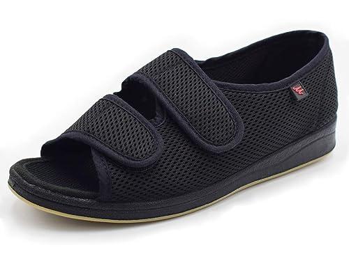 803a6227856d Mei MACLEOD Womens Adjustable Diabetic Flat Feet Arthritis Edema Shoes (6).  LongBay Women s Furry Memory Foam ...