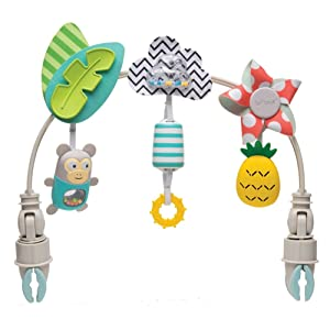Taf Toys 'Tropical Orchestra Arch' | Ideal for Infant & Toddlers, Fits Stroller & Pram, Activity Arch with Fascinating Toys, Stimulates Baby's Senses and Motor Skills Development, Easier Outdoors